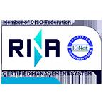logo rina ISO 9001 know k.
